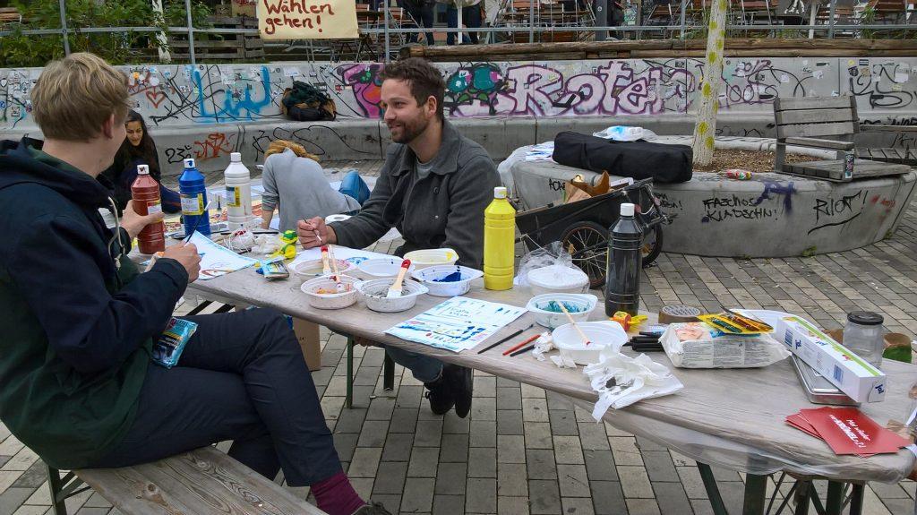 Scheunevorplatz beim Neustadt Art Festival 2017 (Foto: Juli Bachmann)